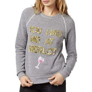 'You Had Me At Merlot' Crewneck Sweater bow&drake